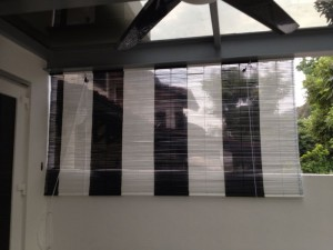Black & White Bamboo Blinds