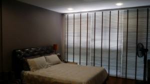 Timber Blinds in bedroom
